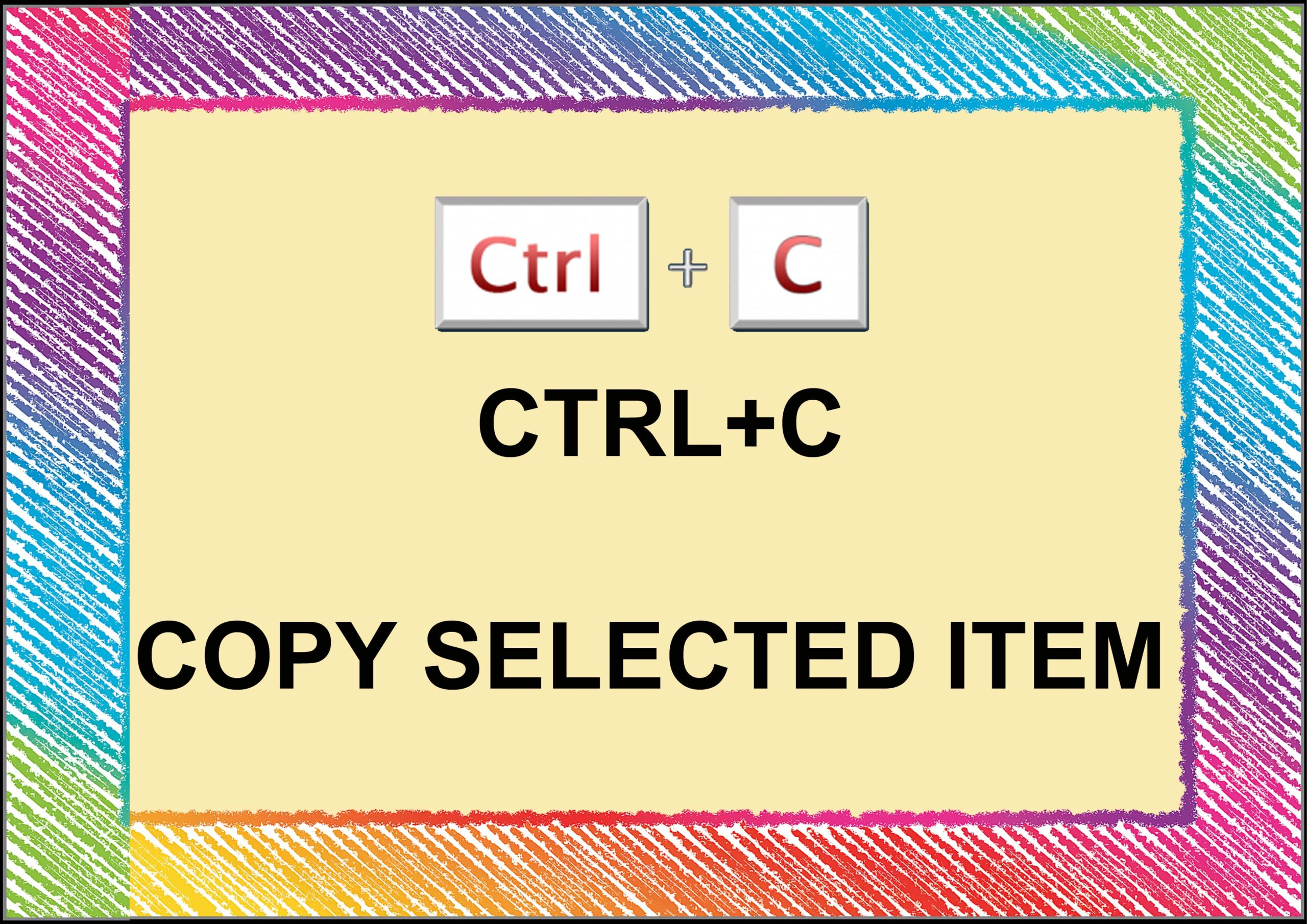 Ctrl+ C=Copy Selected Item