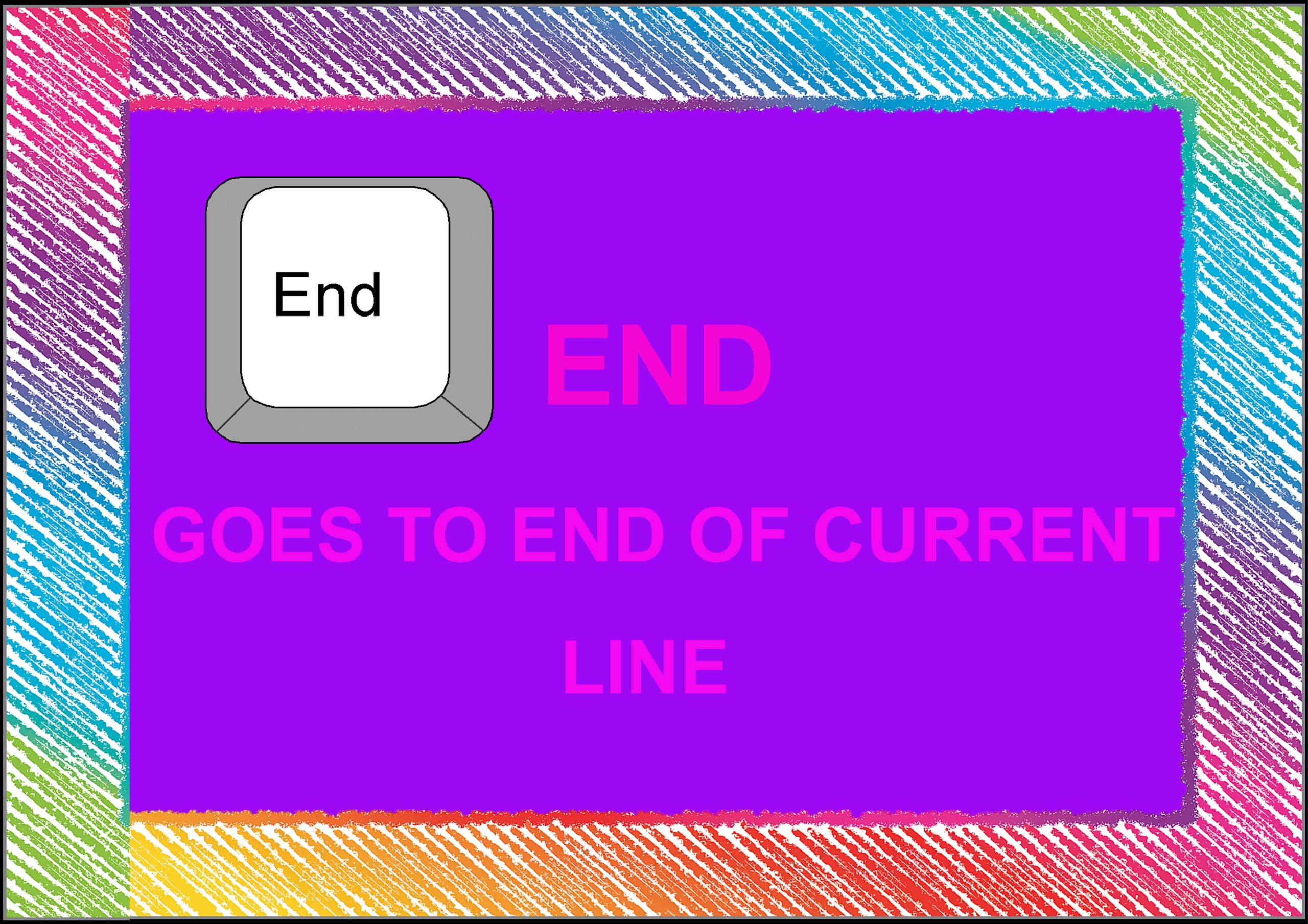 END= Goes To End Of Current Line